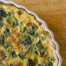 Healthy Quiche Recipe: Leek and Swiss Chard Quiche